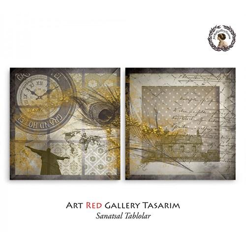 Artred Gallery Soyut İki Parça 103X50 Tablo-2