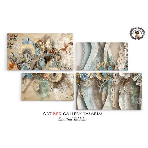 Artred Gallery Valentina Serisi Dört Parça 128X73 Tablo