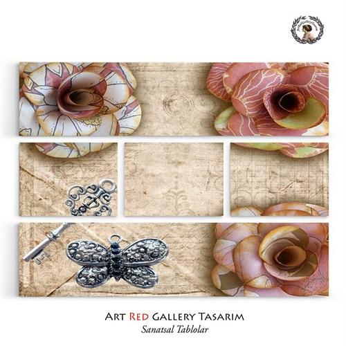 Artred Gallery 5 Parça Sweet Kağıt Çiçekler 126X95