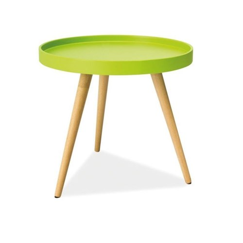 Woodenbend Orvella Yeşil Yan Sehpa