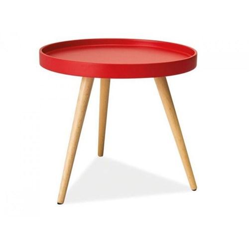 Woodenbend Orvelle Kırmızı Yan Sehpa