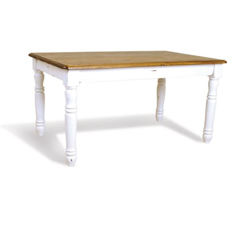 Woodenbend Tiffany Beyaz Eskitilmiş Masa