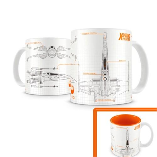 Sd Toys Star Wars: X-Wing Ep7 White Orange Mug Kupa Bardak