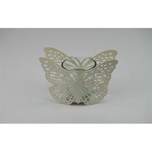 Cosiness Kelebek Ferforje Mumluk - Beyaz
