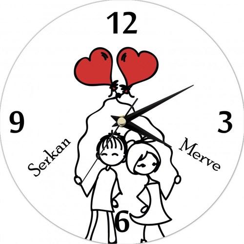 Birbirine Aşık Mutlu Çiftler Saat