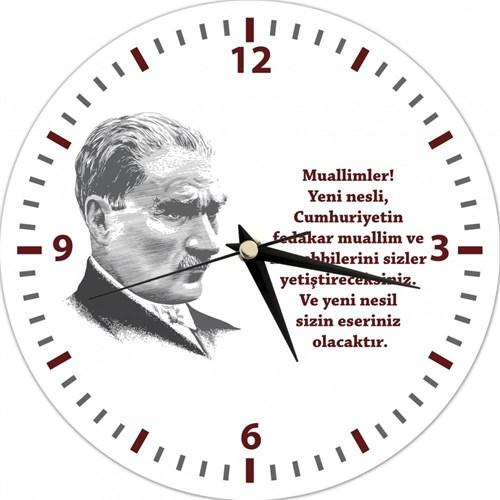 Mustafa Kemal Atatürk - Duvar Saati