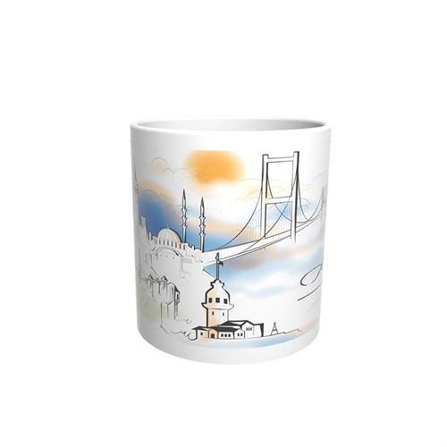 İstanbul Tasarımlı Kupa Bardak