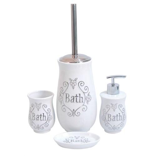 İhouse Porselen Banyo Seti 4 Parça