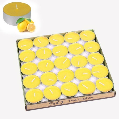Orijinal Kulüp Kokulu Tealight Mum (50 Adet)-Limon