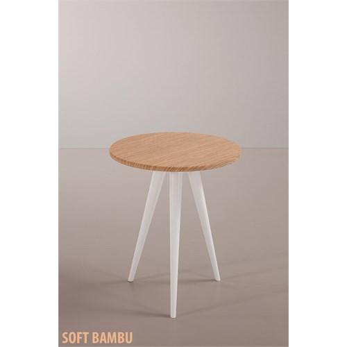 Sanal Mobilya Eva Fiskos Yan Sehpa Soft Bambu