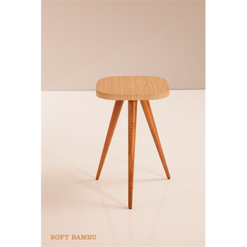 Sanal Mobilya Kilyos Koltuk Yan Sehpa Soft Bambu