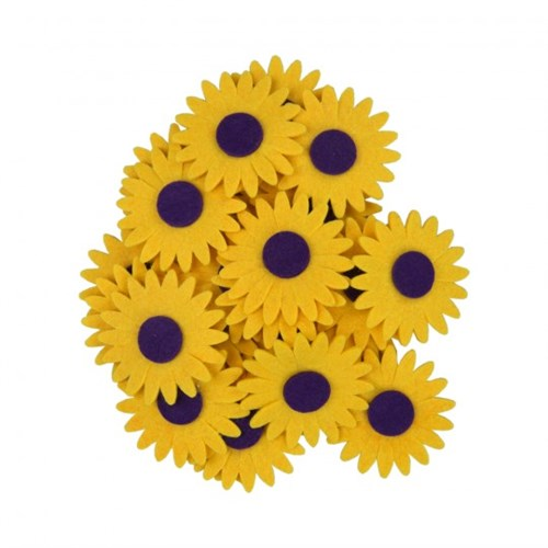 La Mia 25'Li Sarı Ayçiçek Keçe Motifler - Cs201