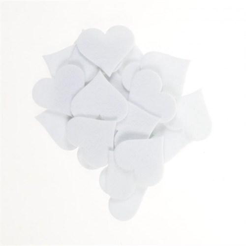La Mia 25'Li Beyaz Maxi Boy Kalp Keçe Motifler - Fs310-M02