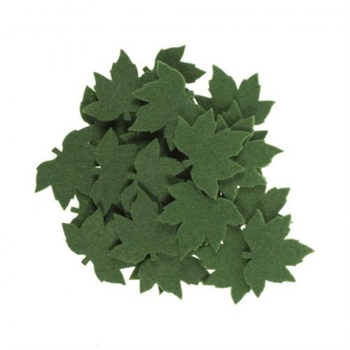 La Mia 25'Li Yeşil Çınar Yaprak Keçe Motifler - Ys352-M58
