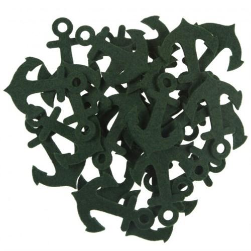 La Mia 25'Li Zümrüt Yeşil Çapa Keçe Motifler - Fs320-M58
