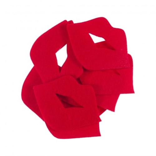 La Mia 10'Lu Kırmızı Dudak-3 Keçe Motifler M13