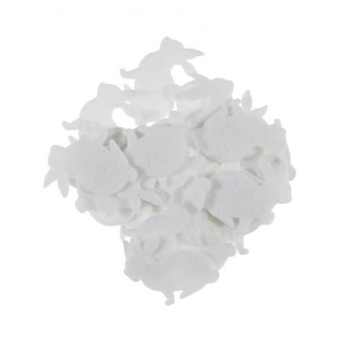 La Mia 25'Li Beyaz Tavşan Keçe Motifler Fs204-M02