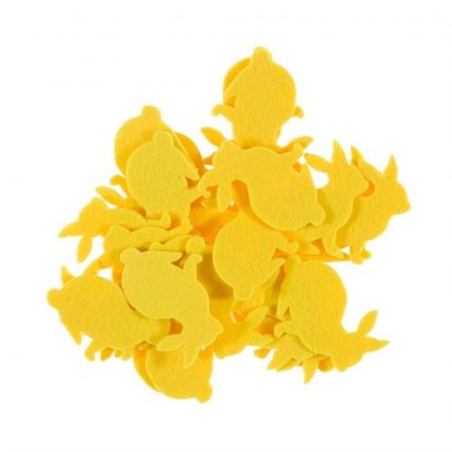 La Mia 25'Li Civciv Sarı Tavşan Keçe Motifler Fs204-M08