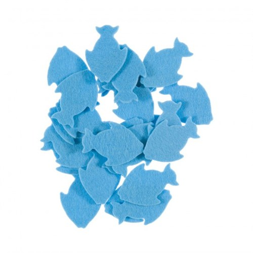 La Mia 25'Li Pastel Mavi Balık Keçe Motifler Fs291-M43