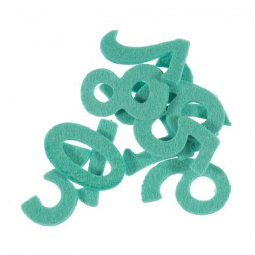 La Mia 10'Lu Mint Yeşili Sayı Keçe Motifler M59