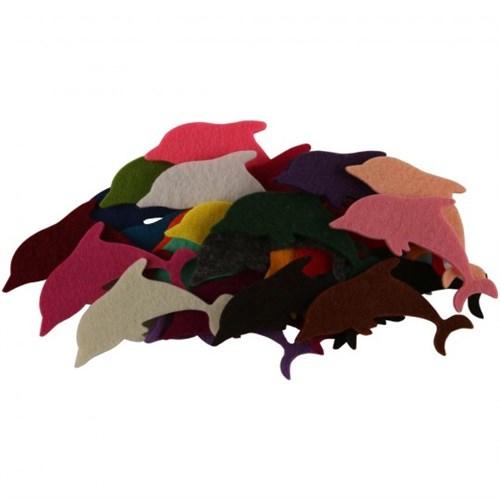 La Mia 25'Li Karışık Renk Yunus Keçe Motifler - Fs290-K