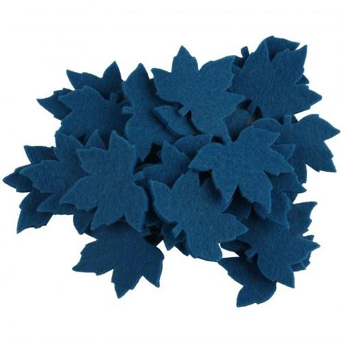 La Mia 25'Li Çivit Mavi Çınar Yaprak Keçe Motifler - Ys352-M46