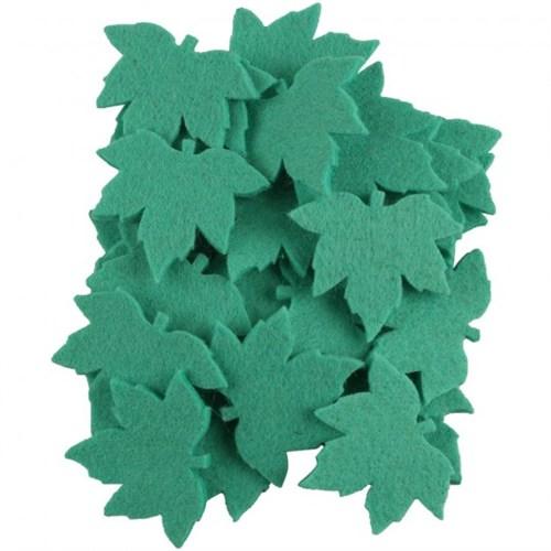 La Mia 25'Li Turkuaz Yeşil Çınar Yaprak Keçe Motifler - Ys352-M44
