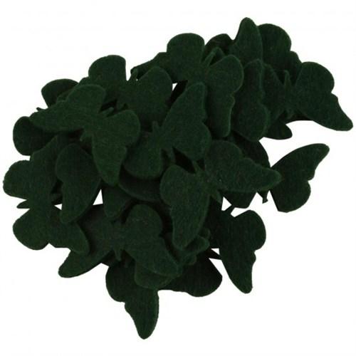 La Mia 25'Li Zümrüt Yeşil Kelebek Keçe Motifler - Fs306-M58