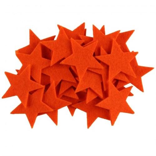 La Mia 25'Li Neon Turuncu Yıldız Keçe Motifler - Fs304-M19