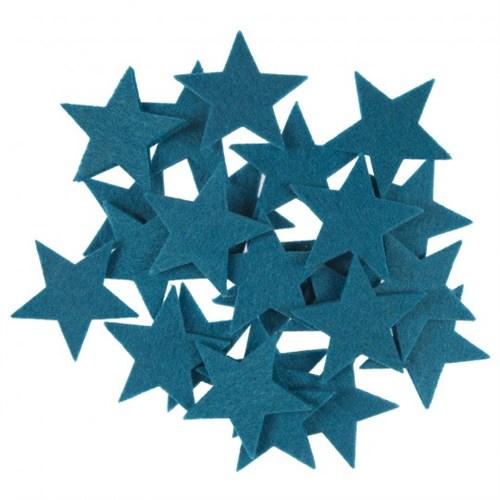 La Mia 25'Li Petrol Mavi Yıldız Keçe Motifler - Fs304-M45