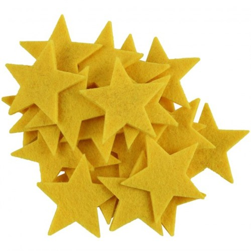 La Mia 25'Li Sarı Yıldız Keçe Motifler - Fs304-M09