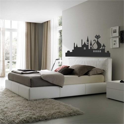 I Love My Wall Modern (Mdn-090)Sticker(Baykuş Sticker Hediye!)
