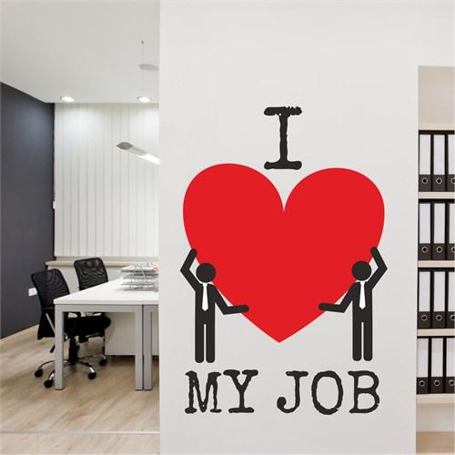 I Love My Wall Konuşan Duvarlar (Kd-336)Sticker(Baykuş Sticker Hediye!)