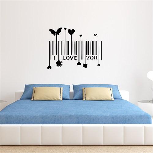 I Love My Wall Konuşan Duvarlar (Kd-333)Sticker(Baykuş Sticker Hediye!)