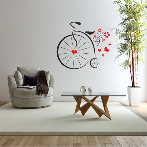 I Love My Wall Floral (F-308)Sticker(Baykuş Sticker Hediye!)