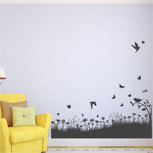 I Love My Wall Floral (F-314)Sticker(Baykuş Sticker Hediye!)