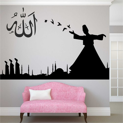 I Love My Wall Dini (D-025)Sticker(Baykuş Sticker Hediye!)