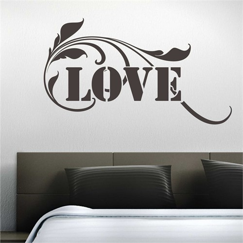 I Love My Wall Floral (F-061)Sticker(Baykuş Sticker Hediye!)