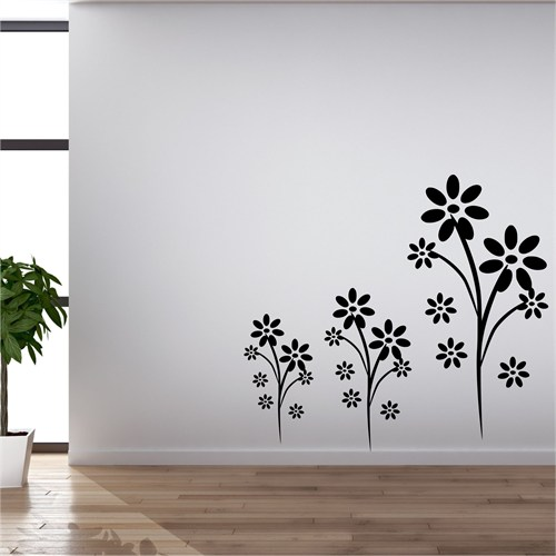 I Love My Wall Floral (F-316)Sticker(Baykuş Sticker Hediye!)