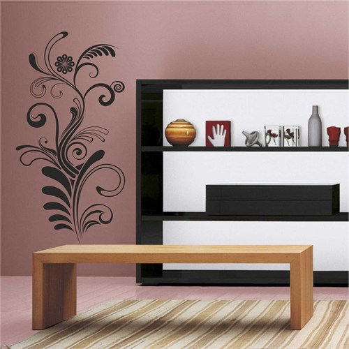 I Love My Wall Floral (F-054)Sticker(Baykuş Sticker Hediye!)