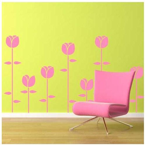 I Love My Wall Floral (F-041)Sticker(Baykuş Sticker Hediye!)