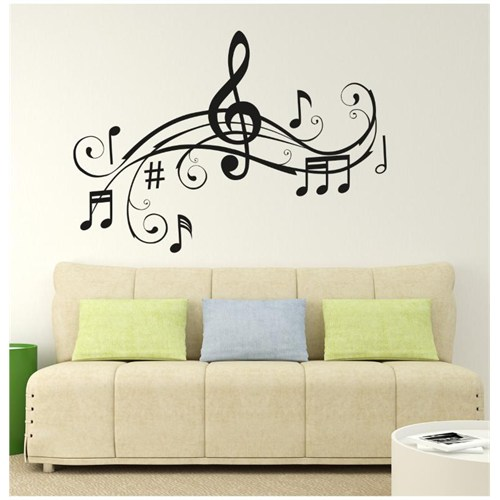 I Love My Wall Müzikal (M-049)Sticker(Baykuş Sticker Hediye!)