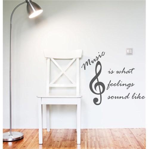 I Love My Wall Müzikal (M-045)Sticker(Baykuş Sticker Hediye!)