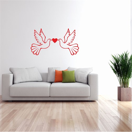 I Love My Wall Floral (F-301)Sticker(Baykuş Sticker Hediye!)