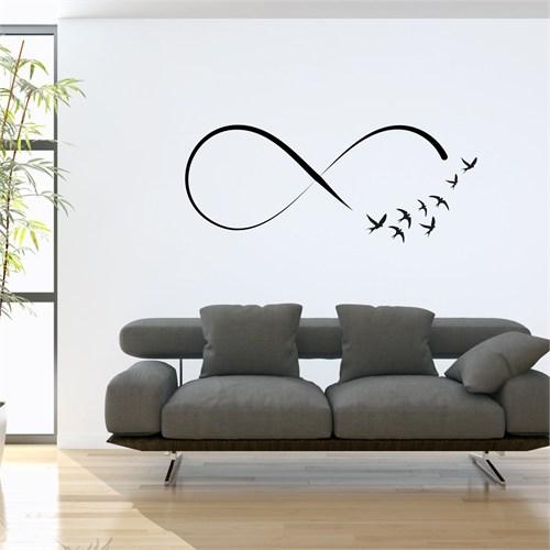 I Love My Wall Floral (F-307)Sticker(Baykuş Sticker Hediye!)