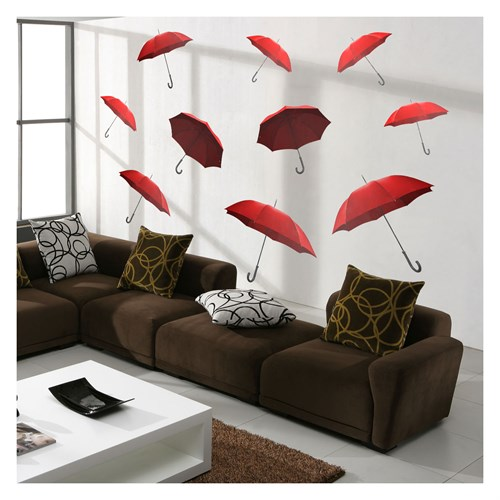 Artikel Umbrellas Dev Duvar Sticker Dp-1463