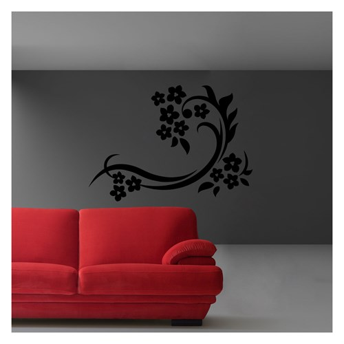 Artikel Sarmaşık Gül Kadife Duvar Sticker Dp-050 ve Tuz boyama