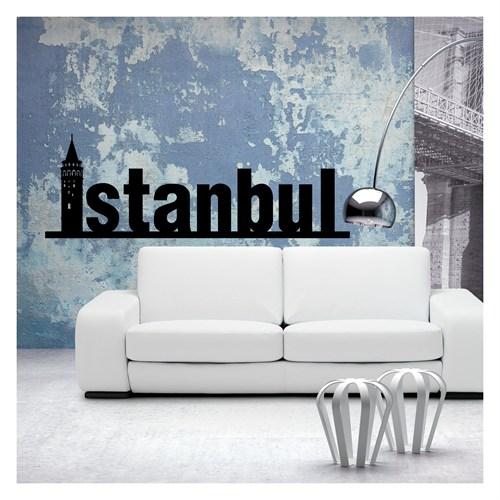 İstanbul Type-1 Kadife Duvar Sticker 132,5X42 Cm