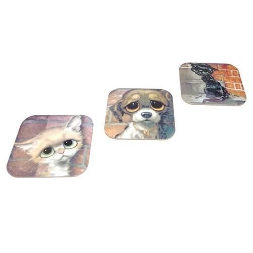 Gift Box Hayvancıklar 3'Lü Bardak Altlığı