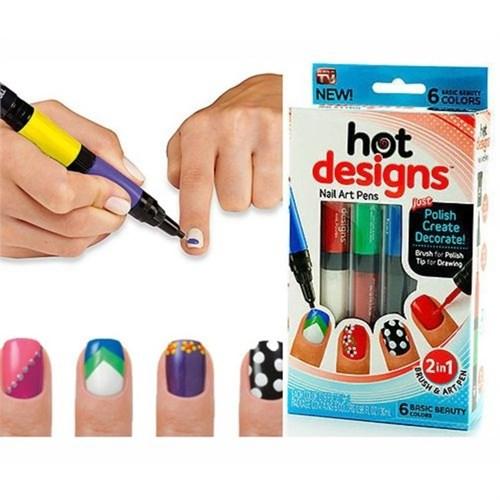 Gift Box Hot Designs Tırnak Süsleme Kalemleri